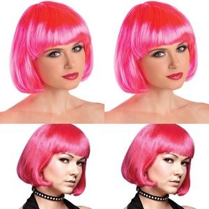Hot pink Bob - Costume Wig